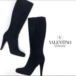 Valentino Suede Knee-High Boots